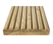 3.6 m smooth and grooved reversible deck board