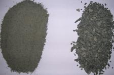 Samples of Basalt rock dust